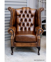 Chesterfield Queen Ann Wing Chairs & Sofa