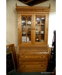 Antique Pine Bureau Bookcases