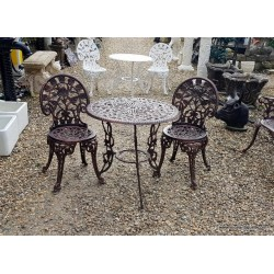Garden Table & 2 Chairs Bronze