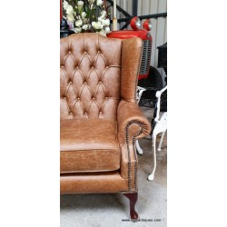 Chesterfield Flat Wing Cracked Brown