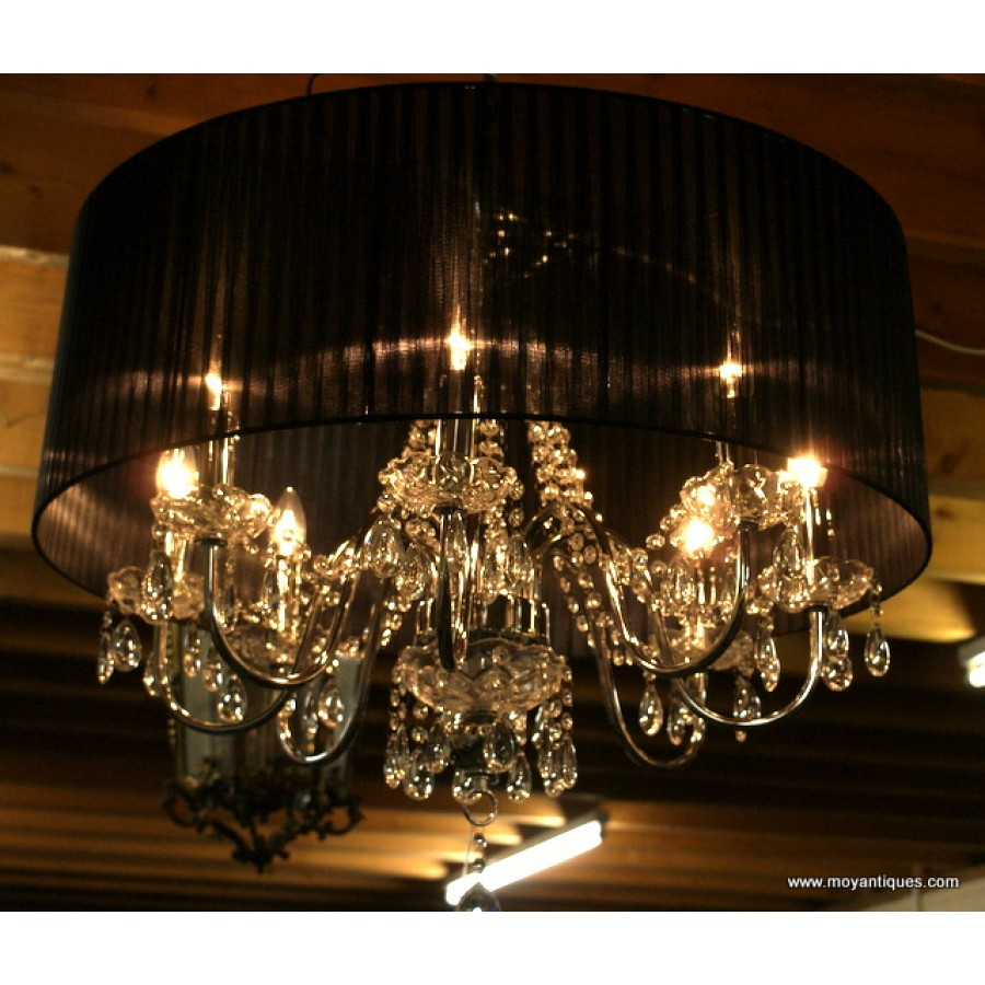 Cloth Shade Chandelier
