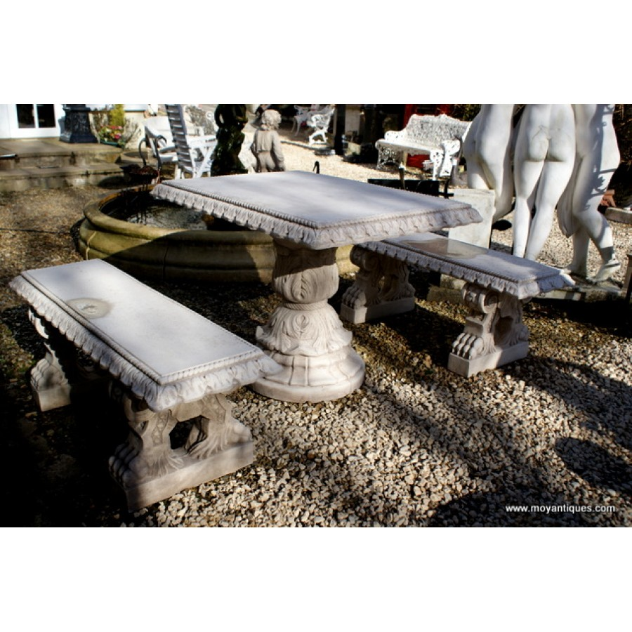 Stone Table & Benchs