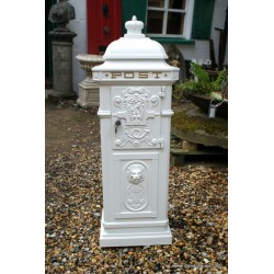 Post Box Freestanding White