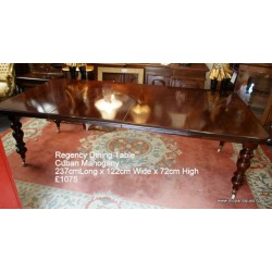 Regency Mahogany Dining Table