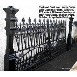 Cast Iron Gates & Piers