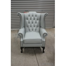 Chesterfield Wing Chair Grey