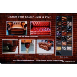 Chesterfield Choose your Feet Seat & Colour