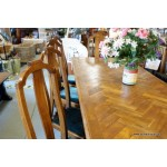 Dining Table Reclaimed Parquet Oak