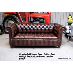 Chesterfield Sofa Button Seat