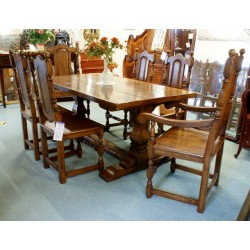 Refectory Table & 6 Chairs Oak SOLD