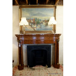 Fire Surround Burr Walnut