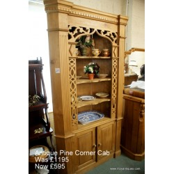 Antique Pine Corner Cab