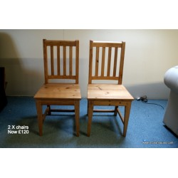 Pair Pine Chairs