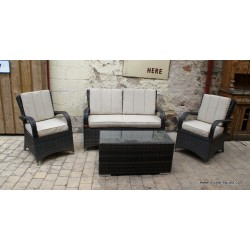 Rattan 4 Piece Garden Set SOLD