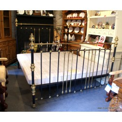 6 ft Brass and Cast Iron Bed
