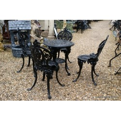 Cast Colebrookedale style Table and Chairs