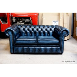 Chesterfield Sofa Chair Blue