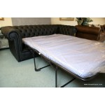 Chesterfield Black Sofa Bed