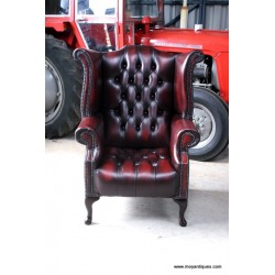 Chesterfield Wing Chair Button seat
