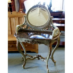 Console Marble Top Mirror
