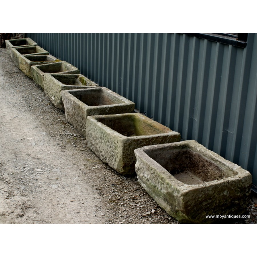 Antique stone troughs