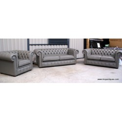 Chesterfield Sofa Suite Grey