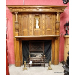 Gothic Oak Fireplace