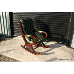 Chesterfield Rocker Chair Green