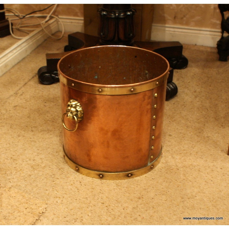Heavy Copper Log Bucket