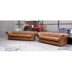 The Charlemont Chesterfield Sofa Pair