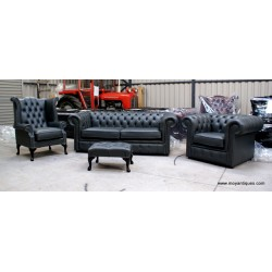 Chesterfield Suite Steel grey