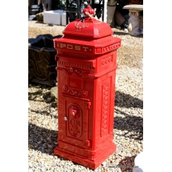 Post Box Freestanding Red