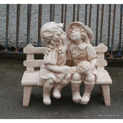 Boy & Girl On Bench Lg