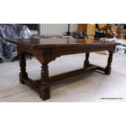 19thC. Figured Elm Refectory TableSOLD