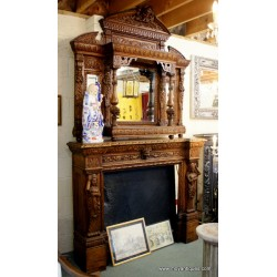 Victorian Oak Chimney Piece