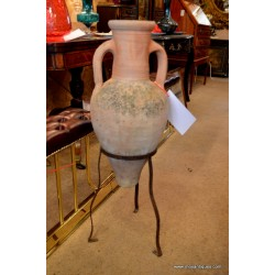 Terracotta Urn Jug on Stand