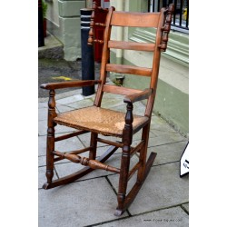 Country Ladder Back Rocking Chair