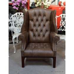 Chesterfield Library Chair Tobacco
