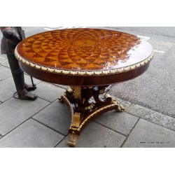 Parquetry Inlaid Center Table SOLD