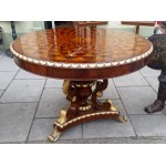 Parquetry Inlaid Center Table