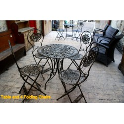 Table and 4 Folding Chairs