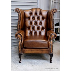 Chesterfield Wing Chair Bronze