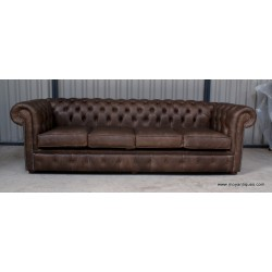 Chesterfield 4 seat Sofa Cracked wax